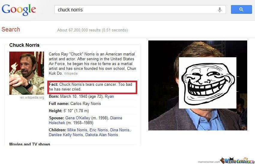 Chuck Norris Can Cure Cancer