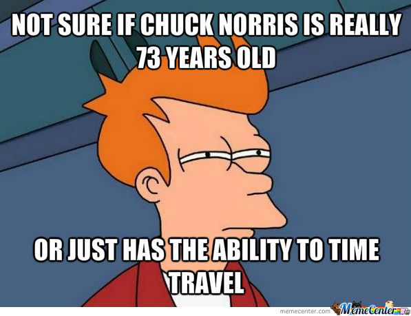 Chuck Norris Can Time Travel?