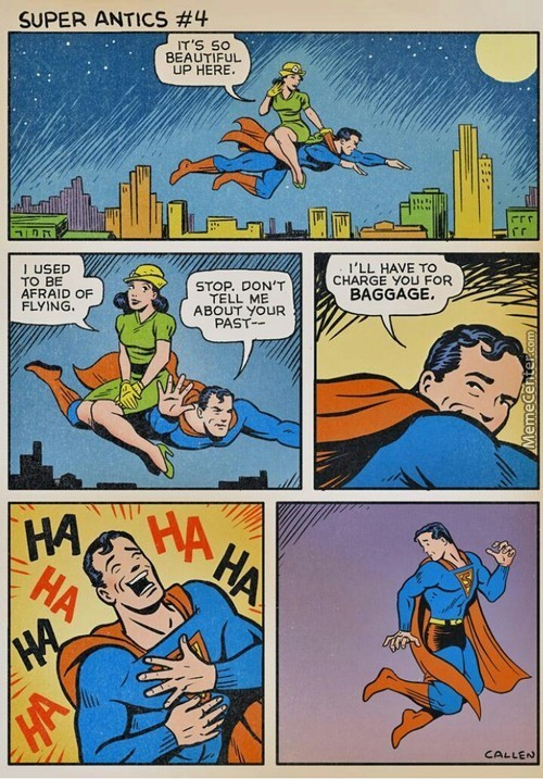 Classic Superman. Oh The Lady No She Didn't Fall To Her Death Or Anything