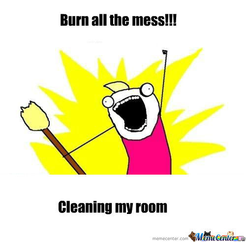 Cleaning My Room