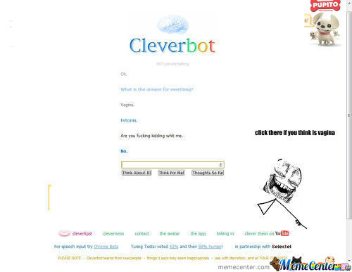 Clever Bot Or Me Who Is Rigth