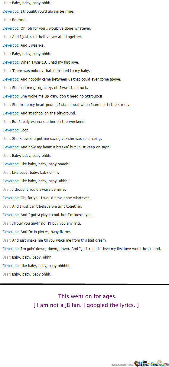 Cleverbot: Baby