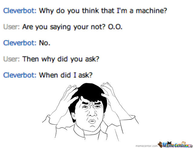 Cleverbot Has Short Term Memory