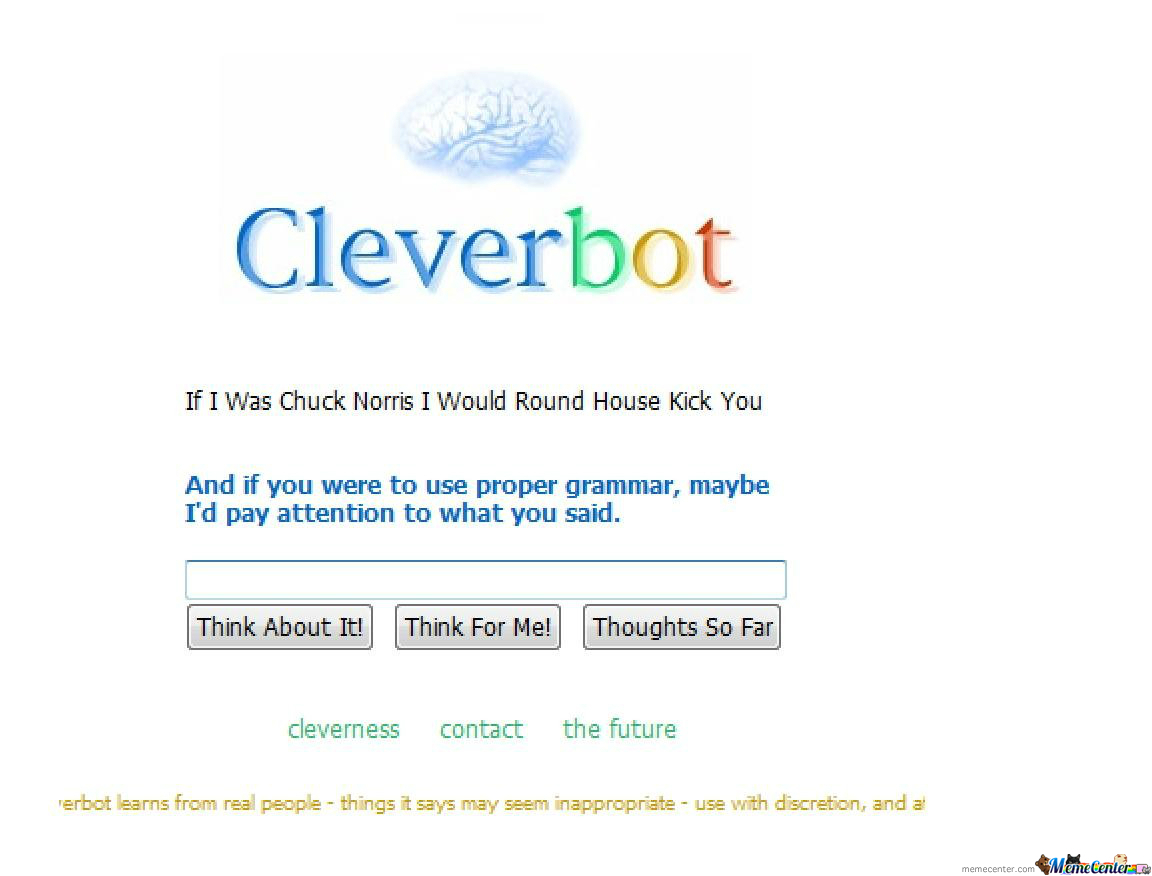 Cleverbot Is A Grammar Nazi!