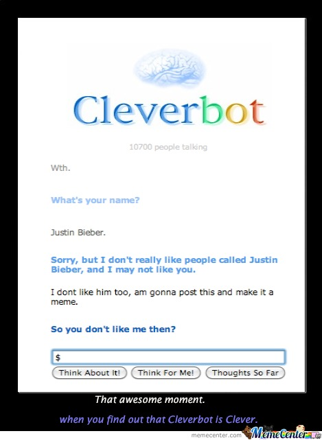 Cleverbot Is Clever