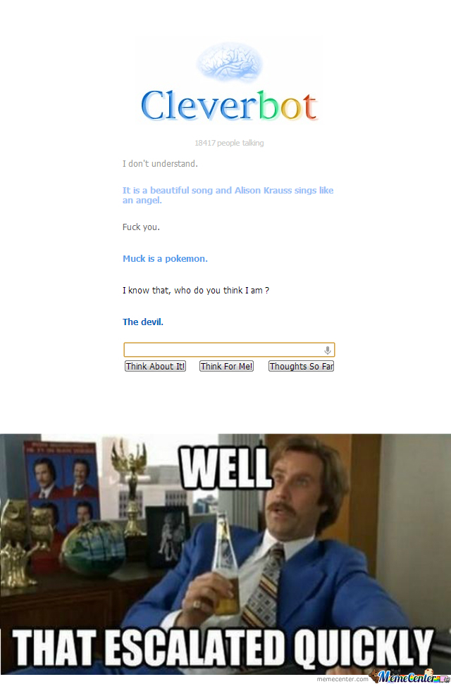 Cleverbot Is Suspicious