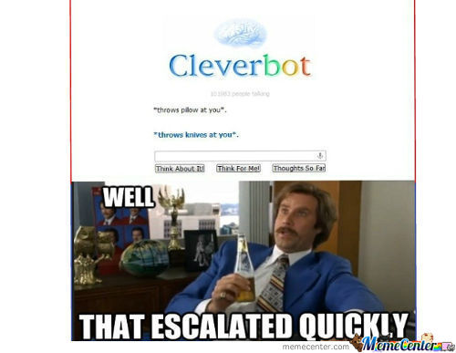 Cleverbot Knows How To Fight