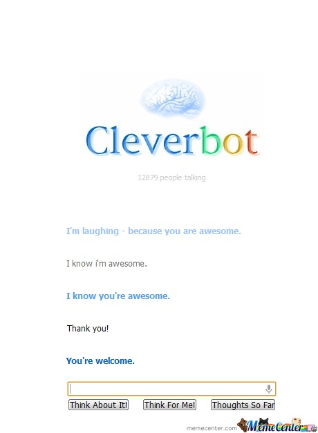 Cleverbot... Knows I'm Awesome