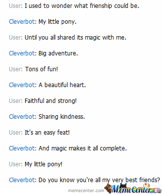 Cleverbot Knows Mlp Opening