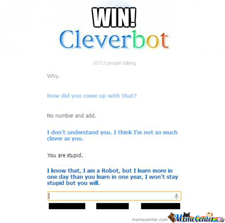 Cleverbot Win!