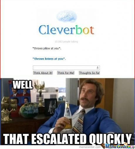 Cleverbot Wins