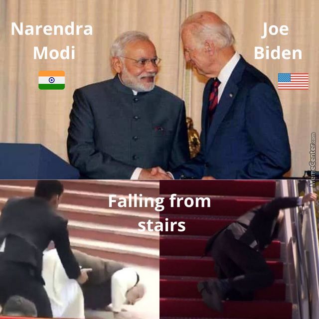 Clumsy Leaders Of Two Nations !!