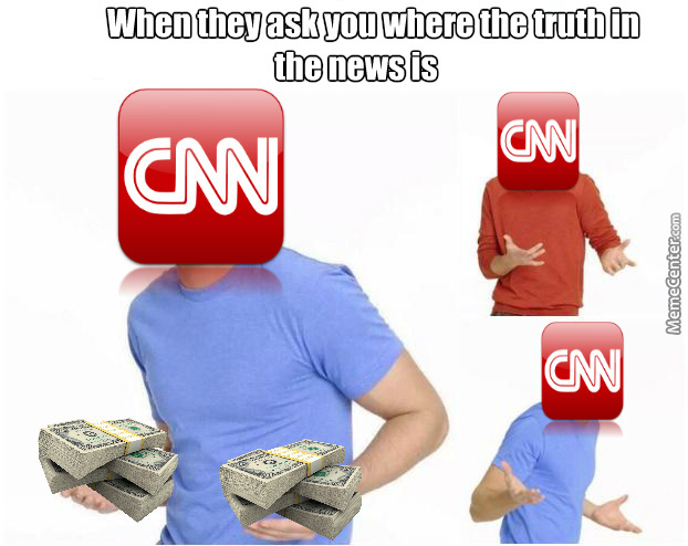 Cnn. Almost About As Thrustworthy As Arabian Teenager With A Granade Belt