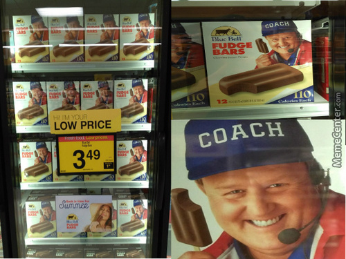 Coach Loves Fudge Bars