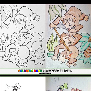 Coloring Book Corruptions By Recyclebin