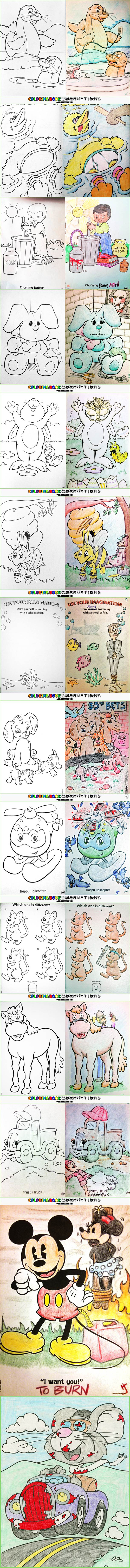 Coloring Book Corruptions ( New Compilation)