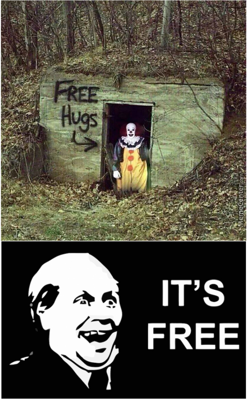 Come On Kids, I Have Free Candies And Hugs...!