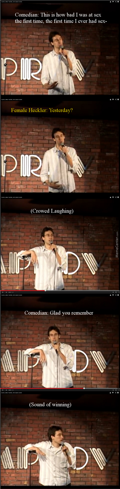 Comedian Burn Heckler