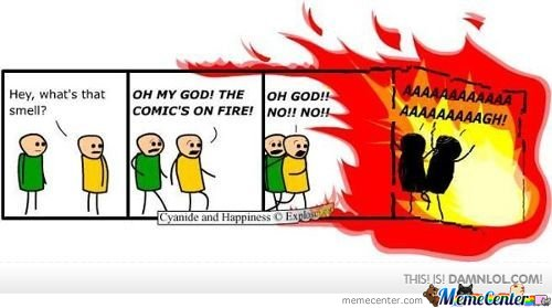 Comic On Fire