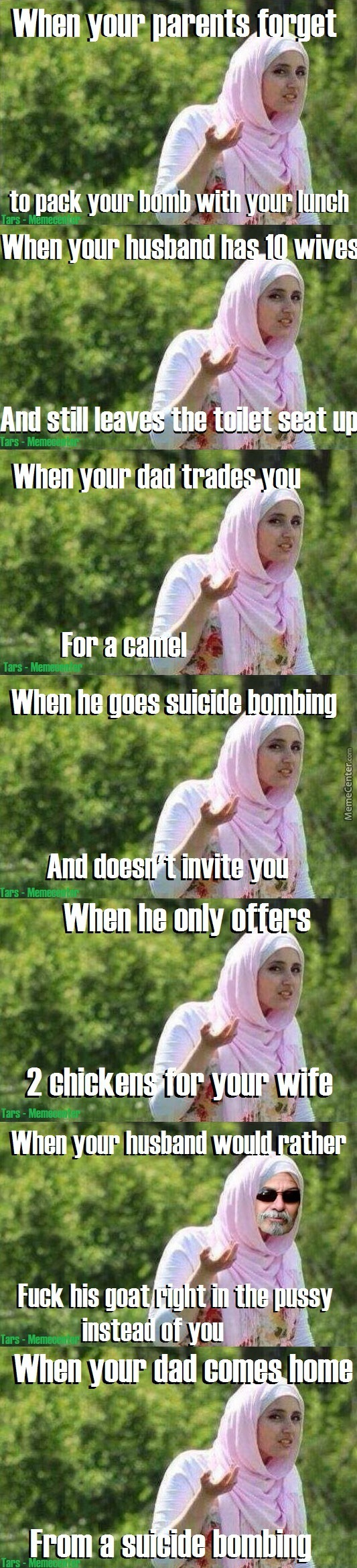 Confused Muslim Girl (No Racism Implied)