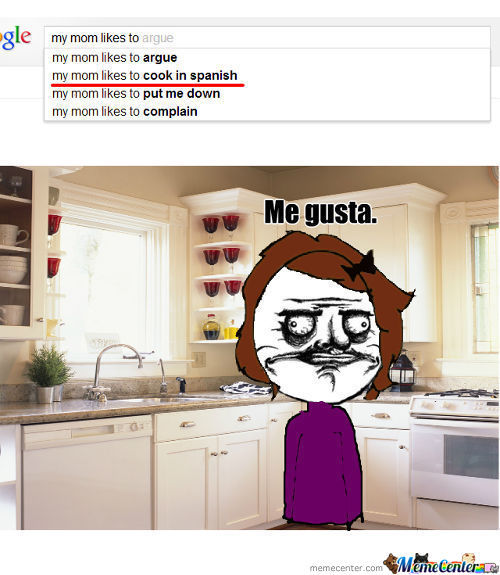 My mom likes to cook in spanish