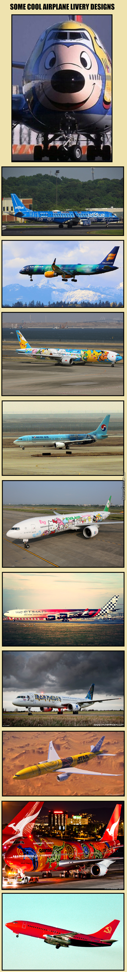 Cool Airplane Liveries