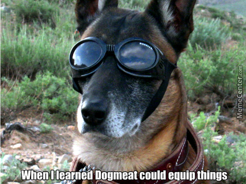 Cool Goggles And Double Collar, Bro.  I Mean, Dawg.