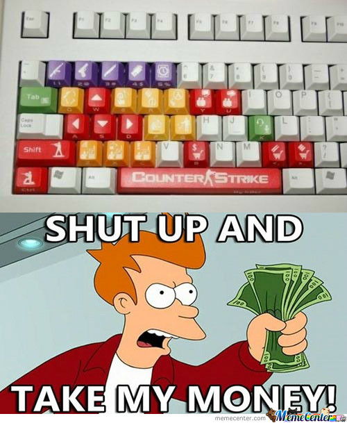 Counter-Strike Keyboard, Damn, I Want One...!!