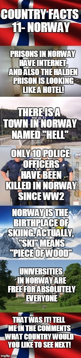 Country Facts #11- Norway