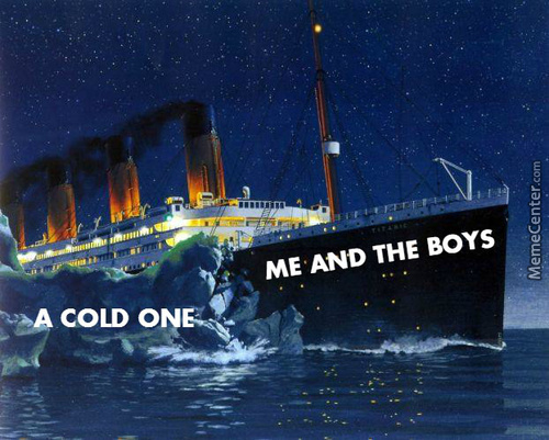 Crackin' Open A Cold One With The Boys.