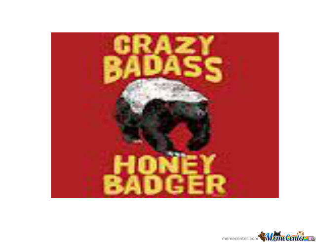Crazy Badass Honey Badger