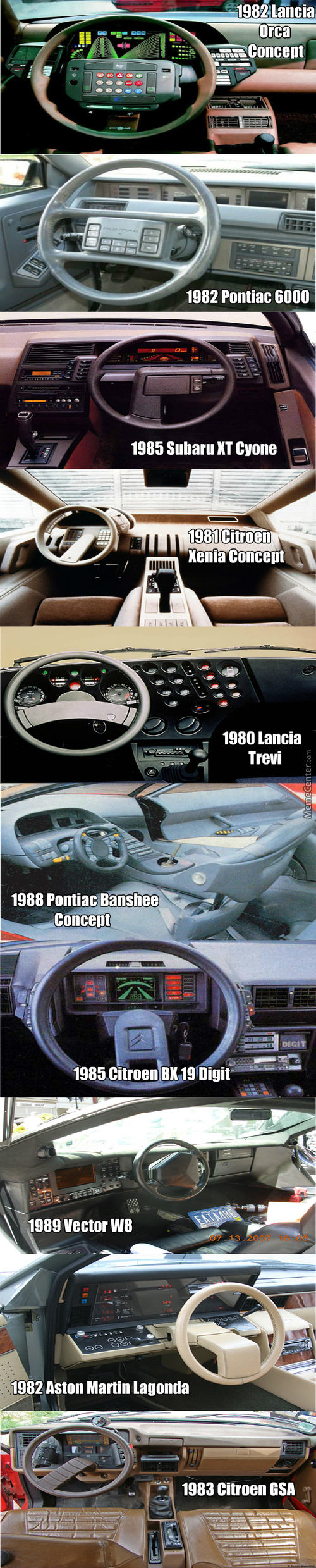 Crazy Car Dashboards From The 80's