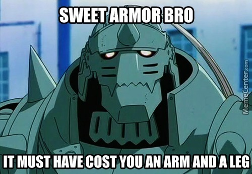 "Crying Internal-Oh Wait, He Can't Cry! Rub "" It "" In His Armor! (Anime: Fullmetal Alchemist Brotherhood)"