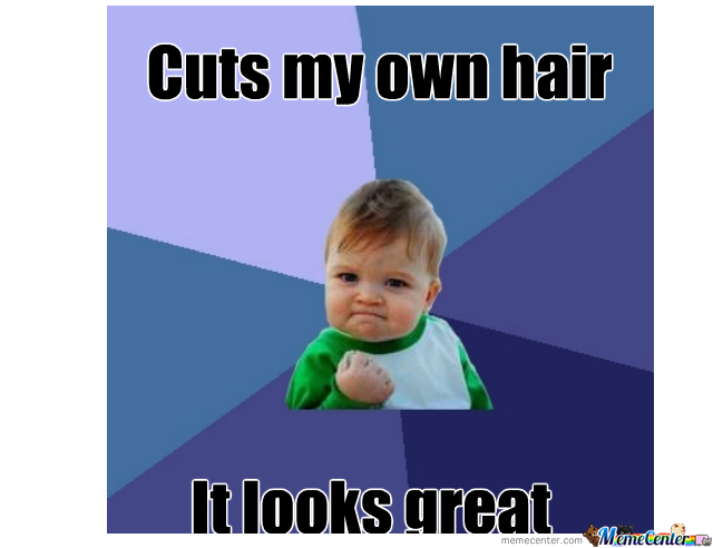 Image result for cutting my own hair