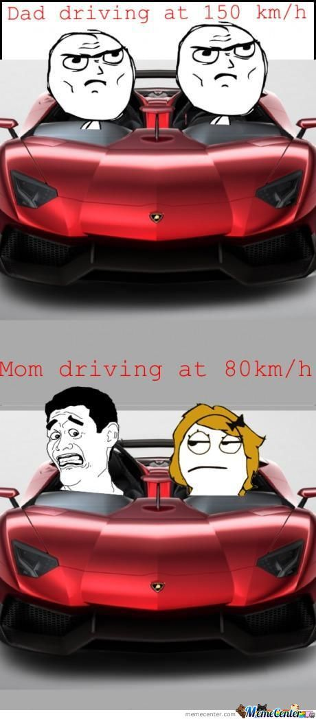 Dad Driving Vs Mom Driving