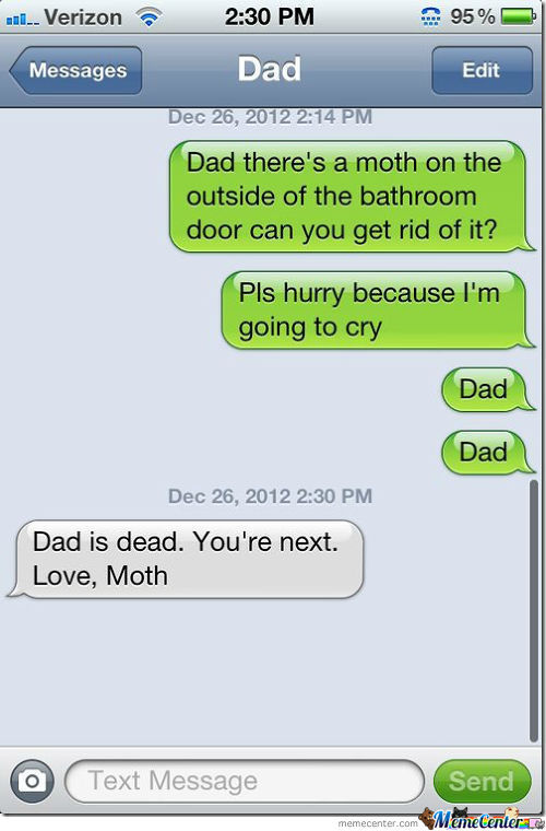 Dad Is Dead, Your Next- Moth.