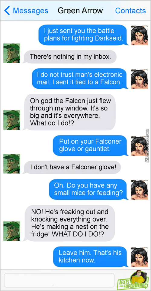 Dammit Diana, Either Better Train Your Falcon Or Get A Better Courier!