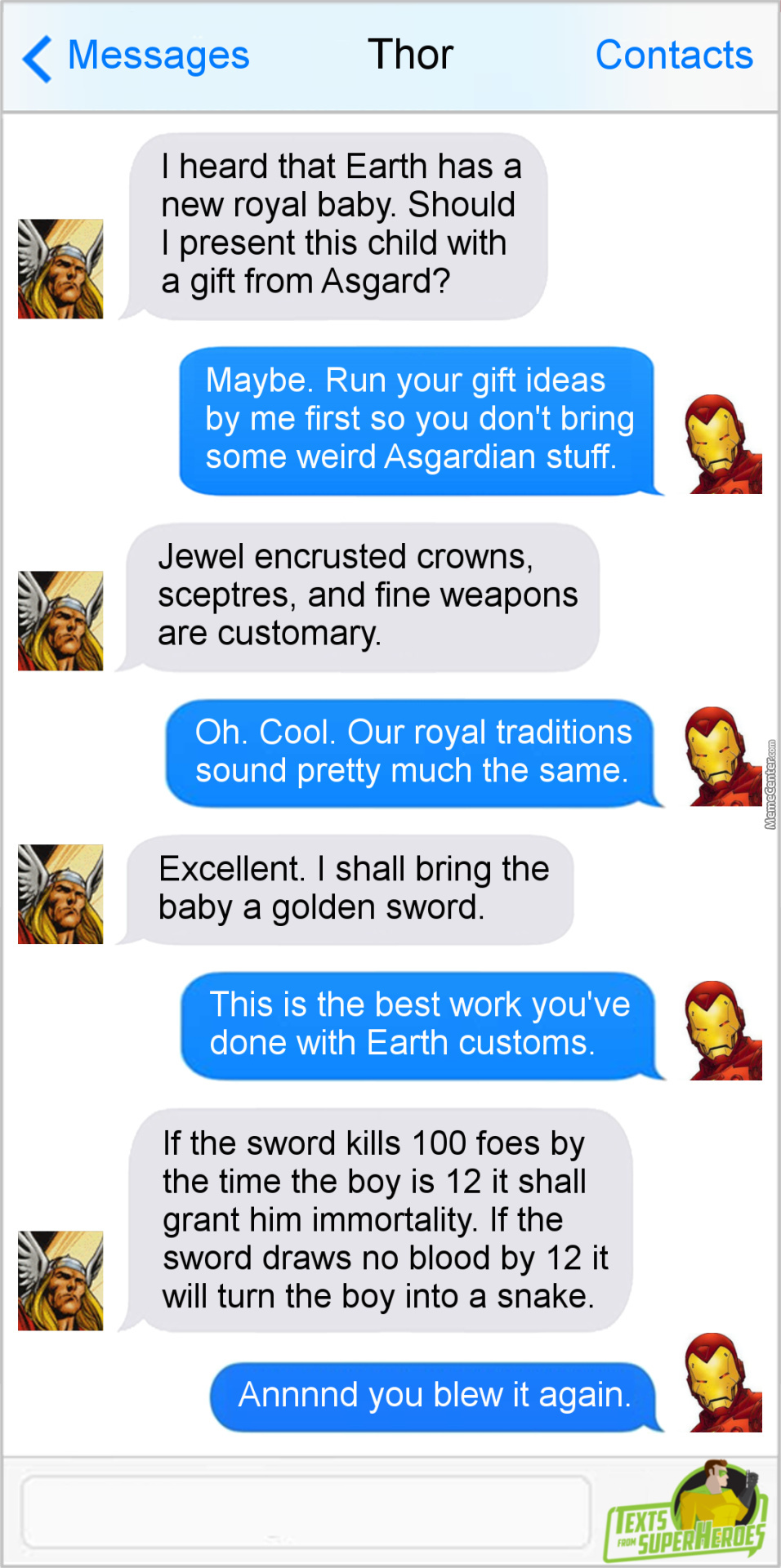 Dammit Thor Just Go With The Crown Or Scepter By Serathdarklands