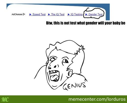 Damn I Should Check My Gender With This Test.
