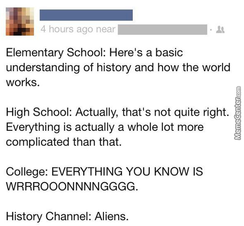 Damn You, History Channel