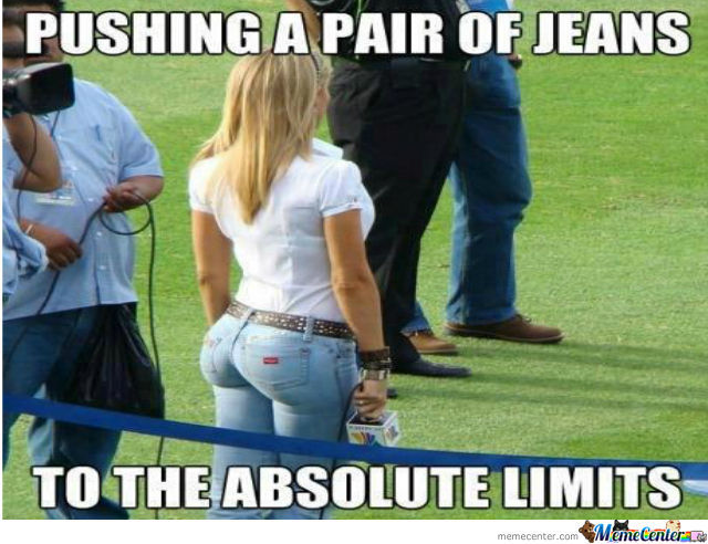 Pushing a pair of jeans to the absolute limits