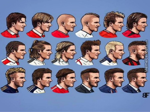 David Beckham Hair Evolution