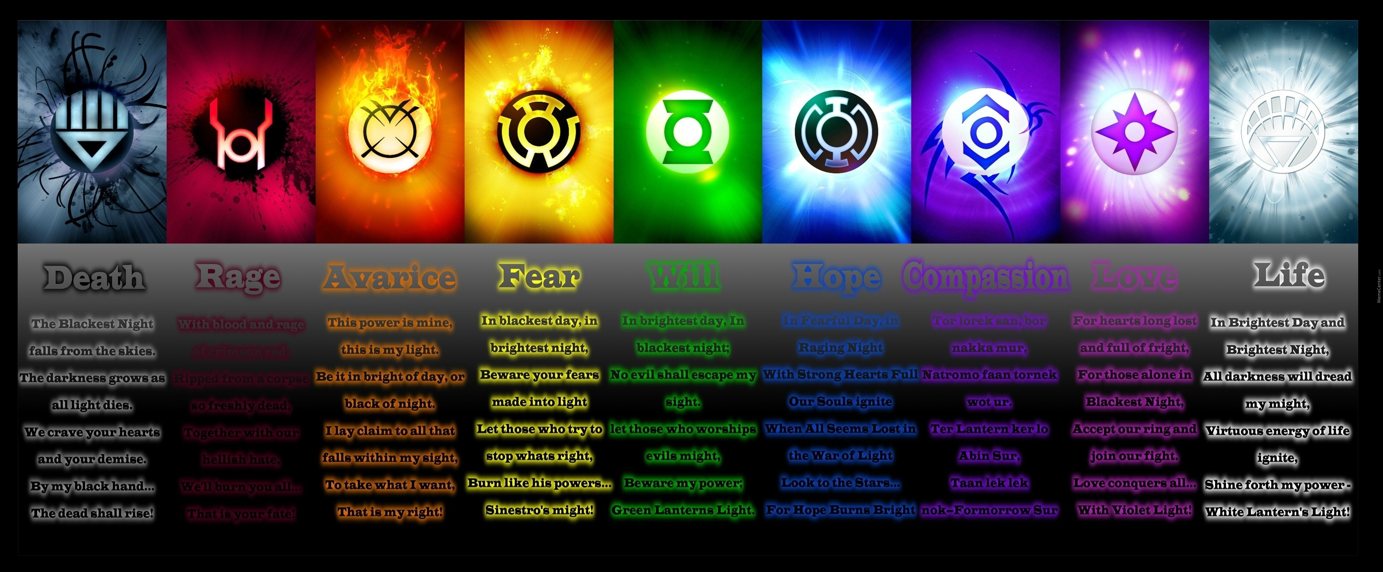 yellow lantern oath - HD 4319×1727