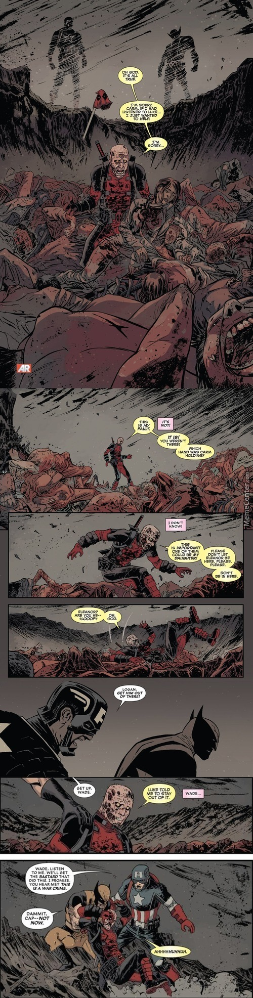 Deadpool Found The Mother Of His Child In A Mass Grave And Had A Total Mental Breakdown