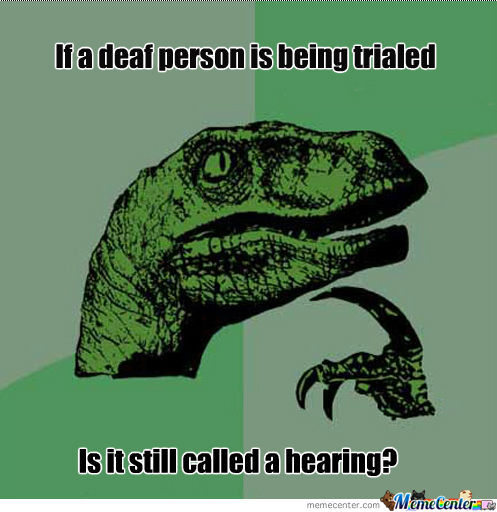 Deaf Person On Trial