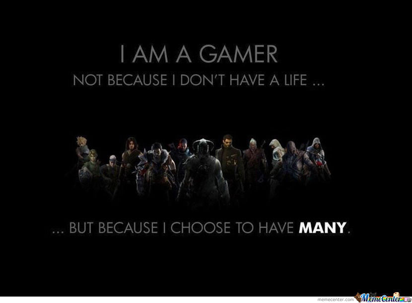 Im A Gamer Because I Dont Have A Life  WeKnowMemes