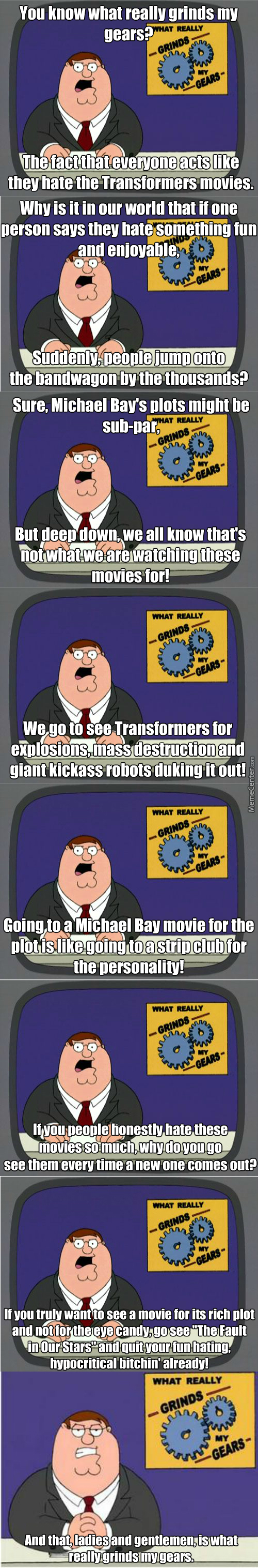 Dear Michael Bay And Transformers Haters...