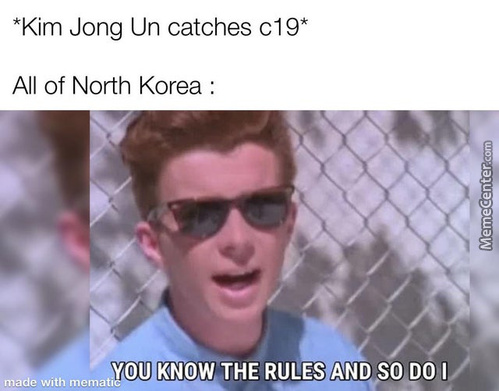 Death Count : 1-0-1-0-1-0... Ps:-This Meme Has Come All The Way From North Korea Itself