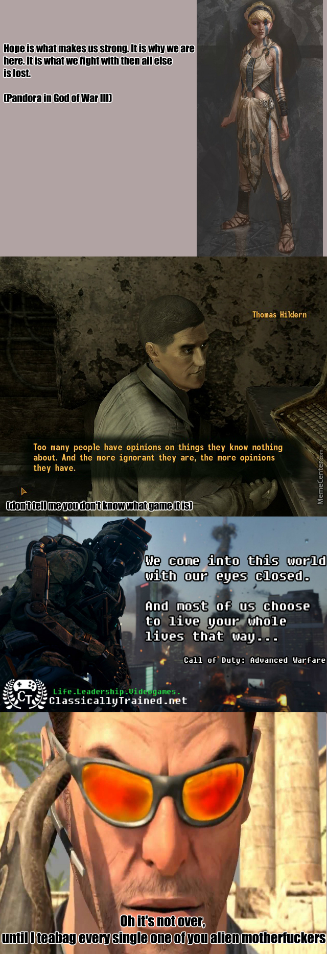Deepest Video Game Quotes Evarrr 420 Noscope Brah By Recyclebin