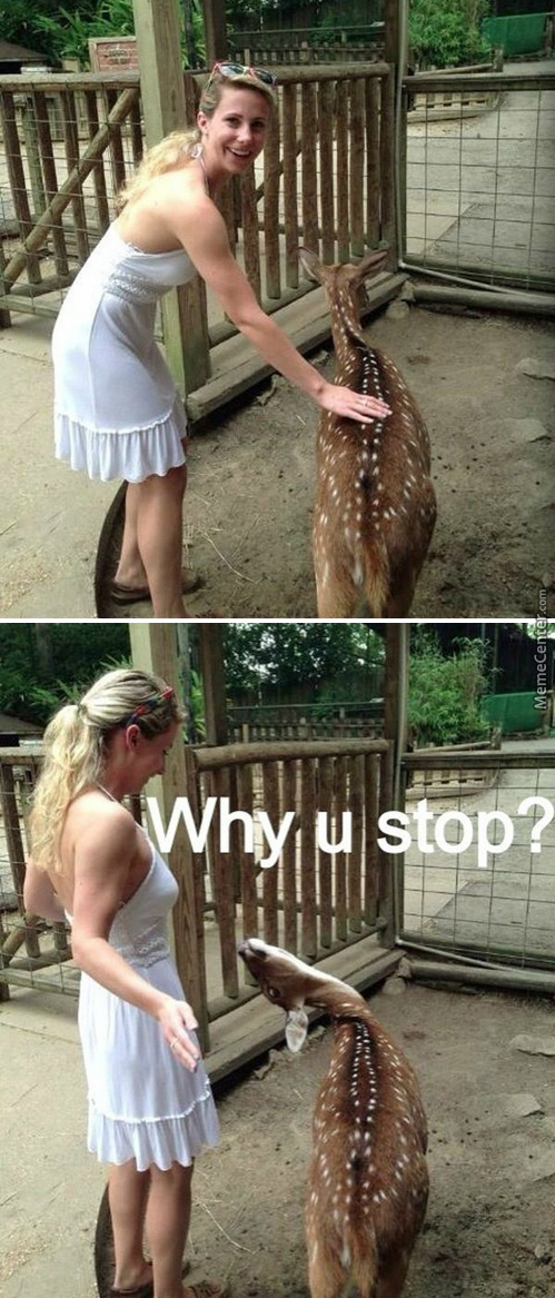 Deers Are Actually Rejected Hell Creatures